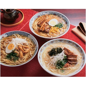 博多長浜ラーメン(3つの味)10食 - 拡大画像