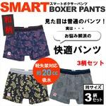 SMART BOXER PANTS(スマートボクサーパンツ)和柄/軽失禁対応(3柄セット)/TEIJINテイジン Lサイズ