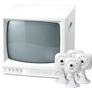 暗視高感度監視カメラMIRUMIRUDX3 テレビモニター&カメラセット - 拡大画像