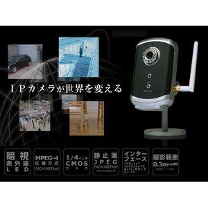 赤外線暗視ネットワークカメラ IP MIRUMIRU - 拡大画像