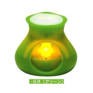 PRISM LED アロマキャンドル ふわり グリーン - 拡大画像