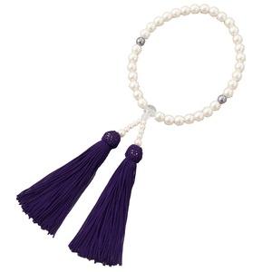 パール念珠 ホワイト (念珠袋プレゼント)  - 拡大画像