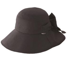 クールインハット(リボン付き) ブラック - 拡大画像