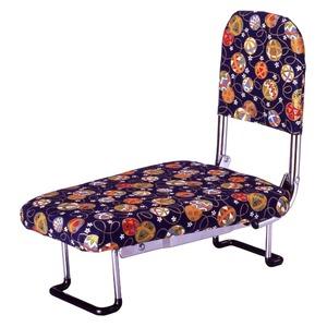 背もたれ付きらく座いす(正座椅子) 手まり柄 - 拡大画像