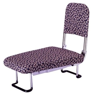 背もたれ付きらく座いす(正座椅子) 小花柄 - 拡大画像