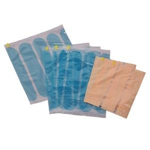 簡単圧縮トラベルスリムパック6枚組 ブルー - 拡大画像