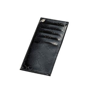 おしゃれnaクローバー 牛革インナーカードケース ブラック - 拡大画像