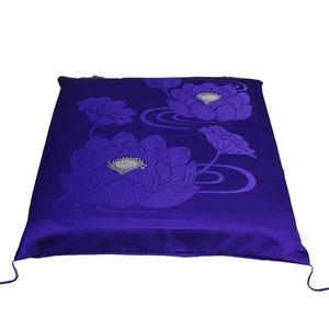 仏前座布団カバー ハス紫
