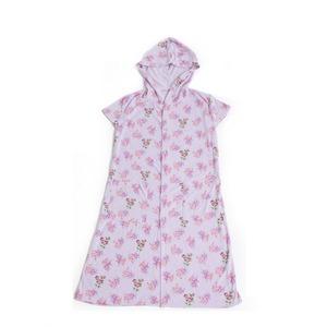 フード付きタオル地ドレス ピンク - 拡大画像