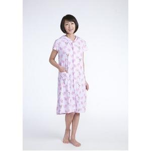 フード付きタオル地ドレス ピンク