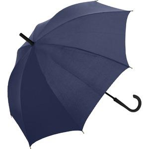 ゲリラ豪雨・強風対策!簡単に元に戻せるマジカルアンブレラ ネイビー - 拡大画像