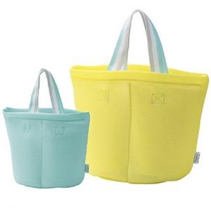 仕切り付洗濯バッグ【2色組】イエロー・ブルー - 拡大画像