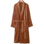 毛布のようなとろけ〜るあったかガウン キャメル S〜M