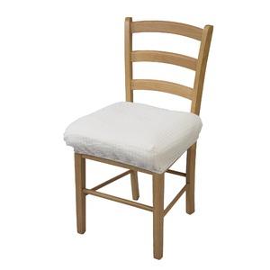 撥水加工のびのび椅子カバー アイボリー - 拡大画像