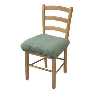 撥水加工のびのび椅子カバー グリーン - 拡大画像