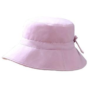 リバーシブル汗とりパイル地ハット ピンク - 拡大画像