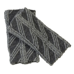 保温・保湿素材使用!シルクのびのび手首ウォーマー ブラック - 拡大画像