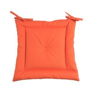 薄型シートクッション/座布団 【オレンジ】 紐付き 洗える 日本製 『オックス』 - 拡大画像