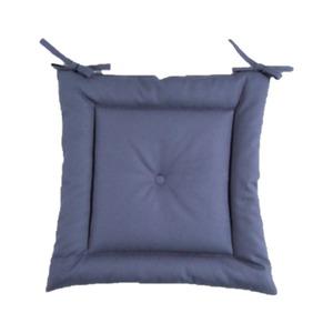 薄型シートクッション/座布団 【ブルー】 紐付き 洗える 日本製 『オックス』 - 拡大画像