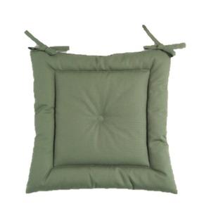 薄型シートクッション/座布団 【モスグリーン】 紐付き 洗える 日本製 『オックス』 - 拡大画像
