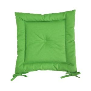 薄型シートクッション/座布団 【ライトグリーン】 紐付き 洗える 日本製 『オックス』 - 拡大画像