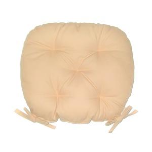 バテイ型 シートクッション/座布団 【アイボリー】 厚み6cm 紐付き 洗える 日本製 - 拡大画像