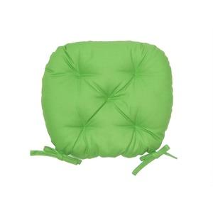 バテイ型 シートクッション/座布団 【ライトグリーン】 厚み6cm 紐付き 洗える 日本製 - 拡大画像