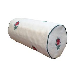 低反発 ボルスタークッション/腰枕 【14R×30cm グリーン】 洗えるカバー 『オロペサ』 - 拡大画像