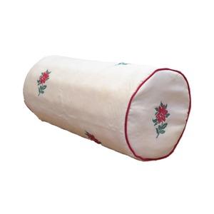 低反発 ボルスタークッション/腰枕 【14R×30cm レッド】 洗えるカバー 『オロペサ』 - 拡大画像