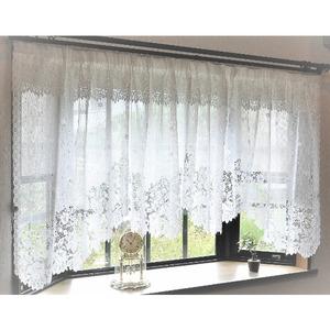 幅145x丈105cm 出窓用レースカーテン カフェカーテン(フリル付き) 日本製