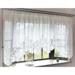 幅150x丈105cm 出窓用レースカーテン カフェカーテン 日本製