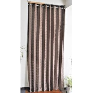 幅150×丈200cm パタパタ 間仕切りカーテン 日本製 ブラウン