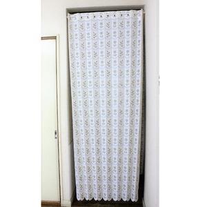 幅95×丈190cm 小花柄 パタパタ 間仕切りカーテン 日本製 ベージュ - 拡大画像
