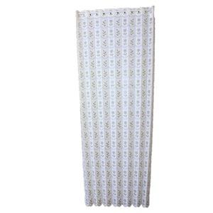 幅95×丈190cm 小花柄 パタパタ 間仕切りカーテン 日本製 ベージュ