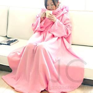 着る袖付きブランケットスナギー ピンク - 拡大画像