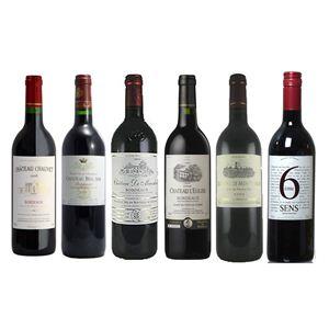 フランスワイン 銘醸地 赤ワイン お買い得6本セット(750ml×6種類) - 拡大画像