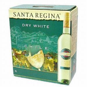 チリ産 白ワイン サンタ・レジーナ  ドライホワイト3L×2本とカベルネ ソーヴィニヨン3L×2本 のセット(合計4本) - 拡大画像