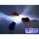 【電丸】すぐに使える手動発電機能!おしゃれな防災LEDフラッシュライト 明るい2灯ライト (オレンジ) - 縮小画像3