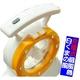 【電丸】充電式扇風機白くまの風 LEDライト付 【オレンジ】(乾電池不要) - 縮小画像5