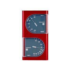 タニタ温湿度計 TT518 メタリックレッド - 拡大画像