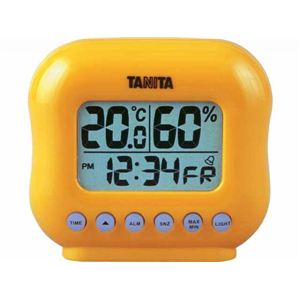 タニタデジタル温湿度計 TT532 オレンジ - 拡大画像