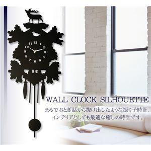 WALL CLOCK SILHOUETTE(ウォールクロックシルエット) 1J-011 Forest  - 拡大画像