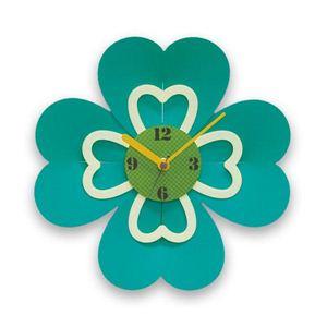 お花のかたちの壁掛け時計 Powan クローバー クローバー02  - 拡大画像
