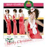 【クリスマスコスプレ】ハッピークリスマスコスチューム セクシードレス ホルターサンタドレス