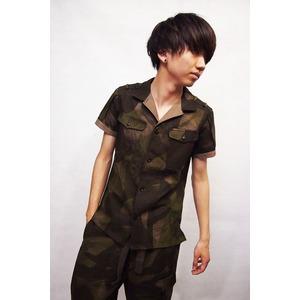 VADEL combat shirts SS KHAKI×BEIGE サイズ44 - 拡大画像