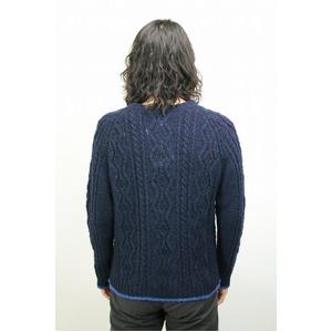 08sircus クルーネックケーブルニットセーター NAVY サイズ2(Mサイズ相当)