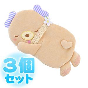 ふんわりCool Heartful Bear(ハートフル ベアー) ひんやり抱きまくら 【3個セット】 - 拡大画像