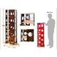 回転式タワーコミックラック【5段タイプ】 ホワイト - 縮小画像2