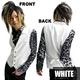 Luxury Black(ラグジュアリーブラック) ピーク衿シャイニードレスジレ WHT(ホワイト) Mサイズ - 縮小画像1
