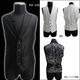Luxury Black(ラグジュアリーブラック) ピーク衿シャイニードレスジレ WHT(ホワイト) Mサイズ - 縮小画像2